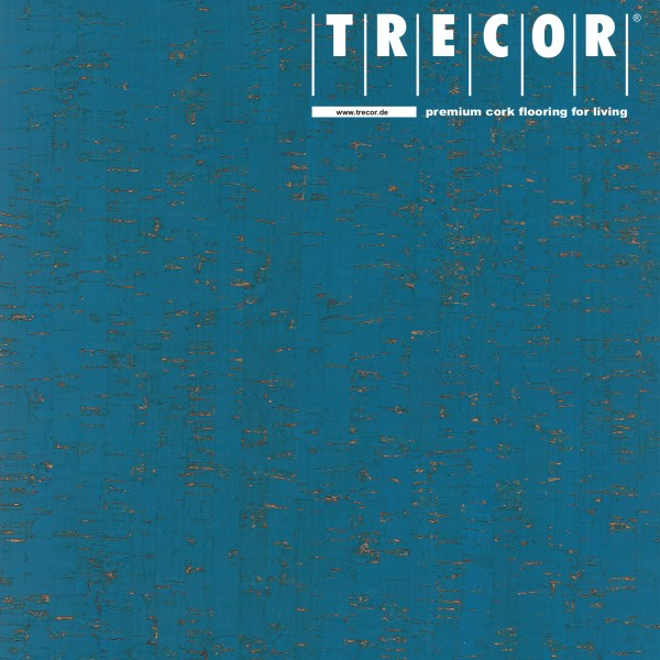 """TRECOR® Korkboden mit Klicksystem """"MAZARA"""" Korkfertigparkett - 10,5 mm Stark - Farbe: Himmelblau"""