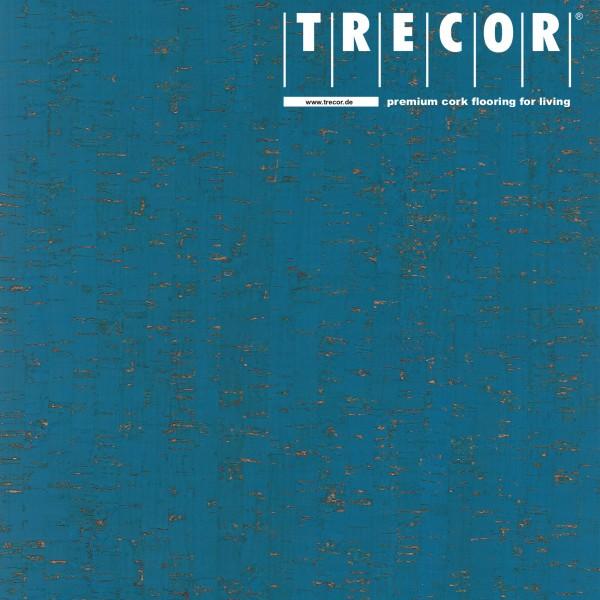 "Korkboden TRECOR® CLASSIC ""Klebekork ""MAZARA"" Stärke: 4 mm, Oberfläche: ROH - Farbe: Himmelblau"