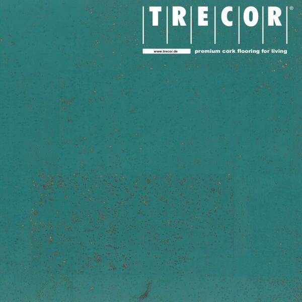 "TRECOR® Korkboden mit Klicksystem ""MERIDA"" - 10 mm Stark - Farbe: Mintürkis"