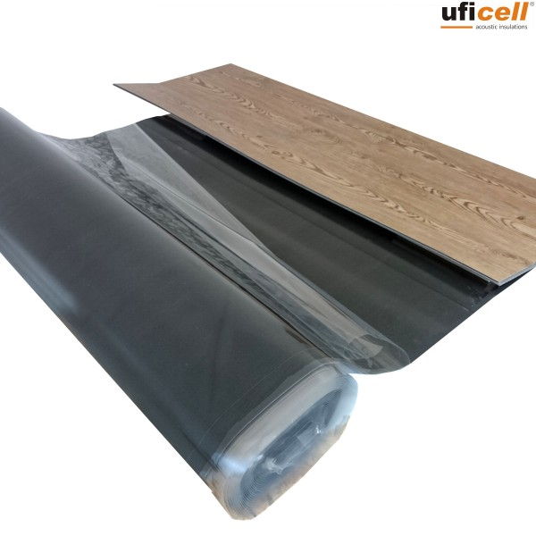 uficell® VinoSilentFixo Vinyl Trittschalldämmung mit Klebebeschichtung für Voll Vinylböden
