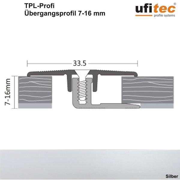 Dehnungsfugen-/Übergangsprofil ufitec® TPL Profi - für Belagshöhen von 7-16 mm