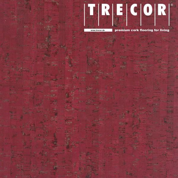 """TRECOR® Korkboden mit Klicksystem """"MAZARA"""" Korkfertigparkett - 10,5 mm Stark - Farbe: Purpurrot"""