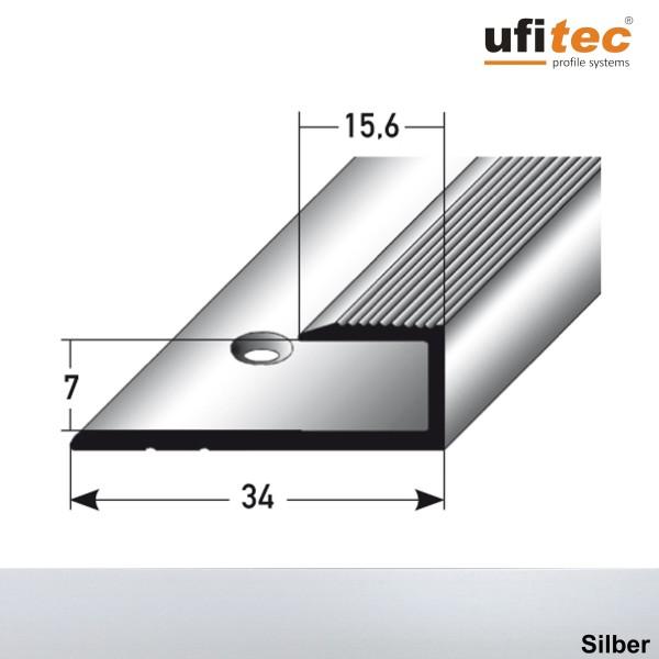 ufitec® Einschubprofile / Abschlussprofile - für Belagshöhen von 7 mm - Alu eloxiert