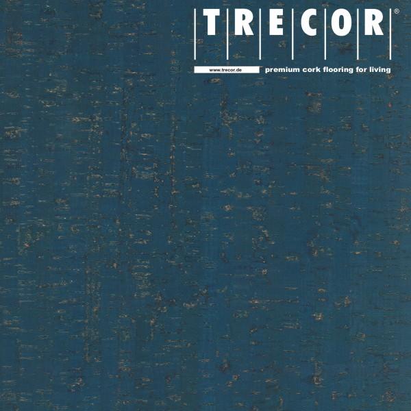 "TRECOR® Korkboden mit Klicksystem ""MAZARA"" Korkfertigparkett - 10,5 mm Stark - Farbe: Violettblau"
