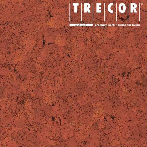 """TRECOR® Korkboden mit Klicksystem """"EVORA"""" Korkfertigparkett - 10,5 mm Stark - Farbe: Korallenrot"""