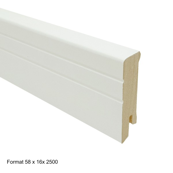 TRECOR® Sockelleiste, Fußleiste, Laminatsockelleiste NEO - 16 x 58 mm