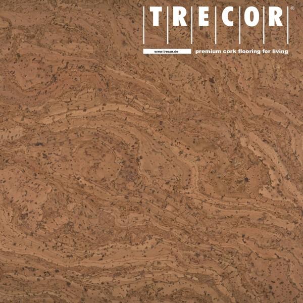 """TRECOR® Korkboden mit Klicksystem """"STILO"""" Korkfertigparkett - 10 mm Stark - Farbe: Braunrot"""