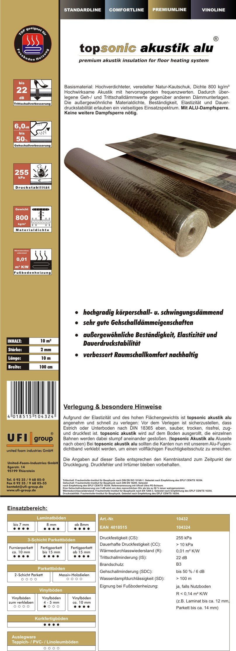 Topsonic-2mm-ALU-Einleger