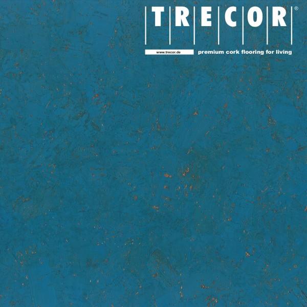 "Korkboden TRECOR® CLASSIC ""Klebekork ""FORTI"" Stärke: 4 mm, Oberfläche: ROH - Farbe: Himmelblau"