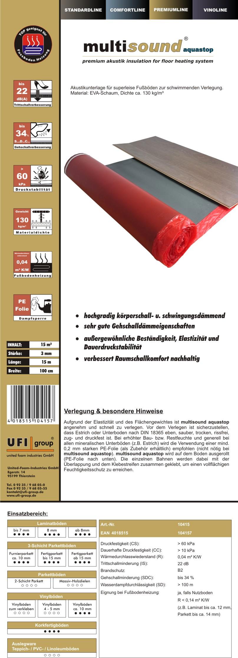 Multisound-3mm-Aquastop