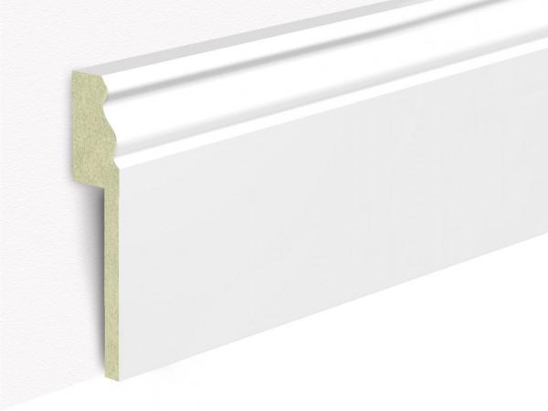 Sockelleiste Abdeckleiste für Fliesensockel im Hamburger Profil, weiß, 19 x 100 mm