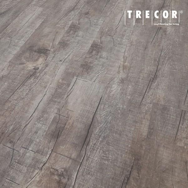 TRECOR® Klick Vinylboden RIGID 4.2 - Eiche Old Rustik Dark Landhausdiele - 4,2 mm Stark, Nutzschicht