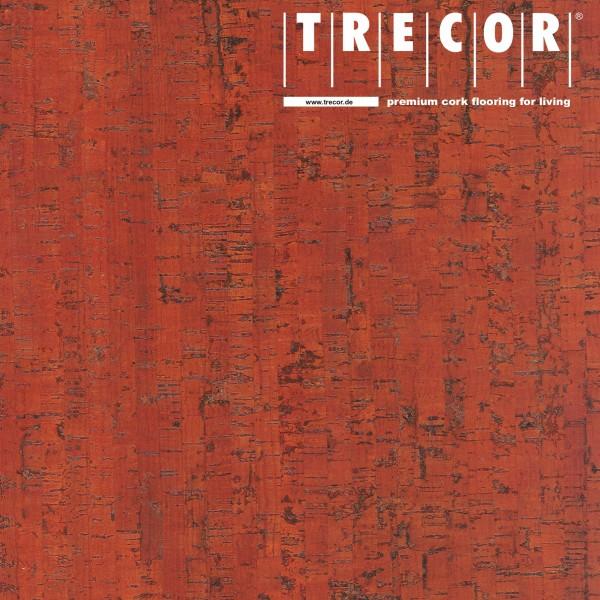 """TRECOR® Korkboden mit Klicksystem """"MAZARA"""" Korkfertigparkett - 10,5 mm Stark - Farbe: Korallenrot"""