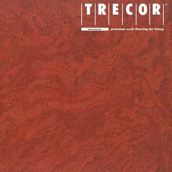 """TRECOR® Korkboden mit Klicksystem """"STILO"""" Korkfertigparkett - 10 mm Stark - Farbe: Korallenrot"""