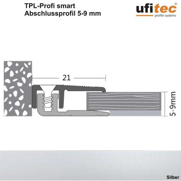 ufitec® TPL Profil smart Abschlußprofil - für Vinylböden und Laminatböden mit Belagshöhen von 5-9 mm