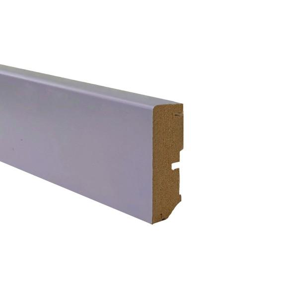 TRECOR® Sockelleiste Laminatsockelleiste Fußleiste Serie EXCLUSIV COLOR 16 x 58 mm, Fenstergrau