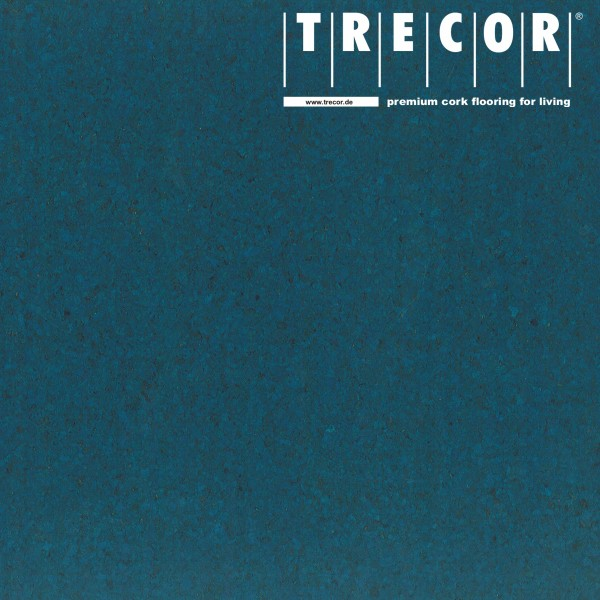 "Korkboden TRECOR® CLASSIC ""Klebekork ""PORTO"" Stärke: 4 mm, Oberfläche: ROH - Farbe: Signalblau"