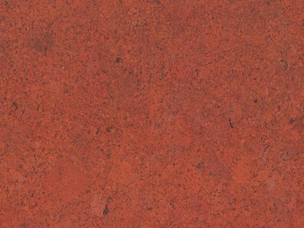 Korkboden TRECOR® CLASSIC Klebekork FORTI Stärke: 4 mm, Oberfläche: ROH - Farbe: Korallenrot