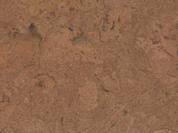 Korkboden TRECOR® CLASSIC Klebekork VARESE Stärke: 4 mm, Oberfläche: ROH - Farbe: Braunrot