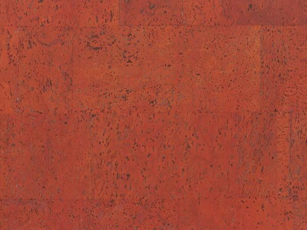 Korkboden TRECOR® CLASSIC Klebekork MERIDA Stärke: 4 mm, Oberfläche: ROH - Farbe: Korallenrot