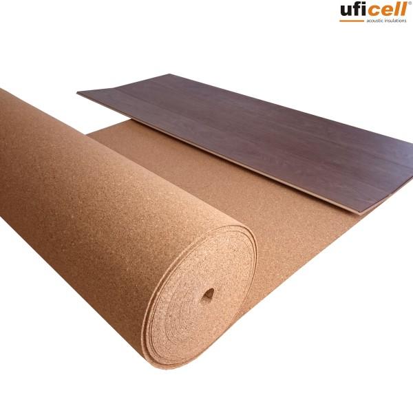 TRECOR® Rollenkork Kork Trittschalldämung Korkunterlage | lieferbare Stärken von 2 - 10 mm