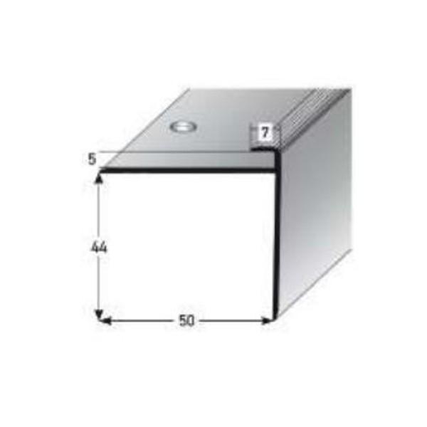 ufitec® Einschubprofil für Belagshöhe bis 5 mm | 44 mm Nase Treppen-/Stufen Abschlussprofil