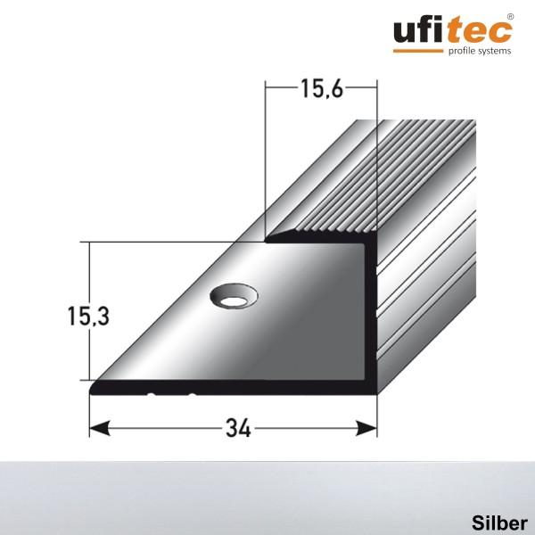 ufitec® Einschubprofile / Abschlussprofile - für Belagshöhen von 15,3 mm - Alu eloxiert