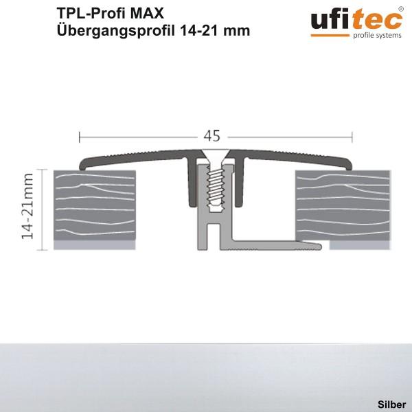 ufitec® TPL Profi max Dehnungsfugenprofil 45 mm für Belagshöhen von 14-21 mm, Breite: 45 mm