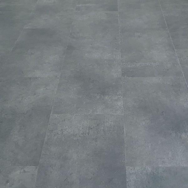 TRECOR® Klick Vinylboden RIGID 4.2 - Fliesendekor Stone Dark mit V-Fuge - 4,2 mm Stark