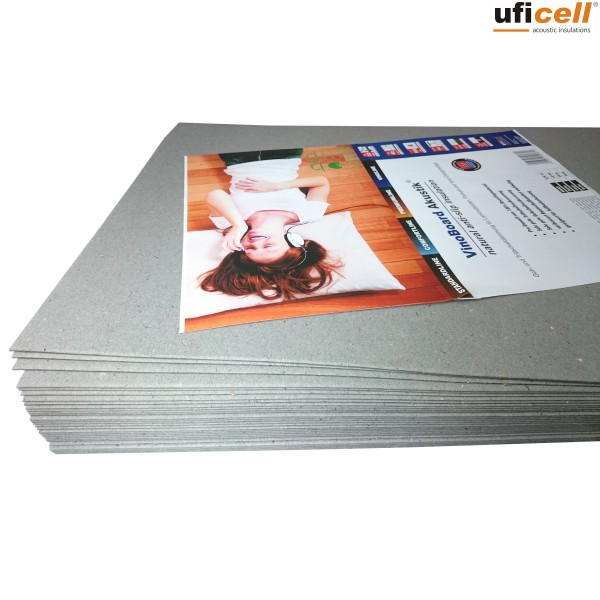 uficell® VinoBoard Akustik Vinyl Trittschalldämmung mit Anti-Slip-Effekt für Voll Vinyl-/LVT-Böden