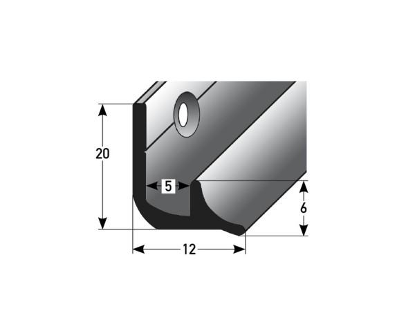 ufitec® Treppeninneneckenprofil für Vinylböden für Belagshöhen von 5 mm - Alu eloxiert