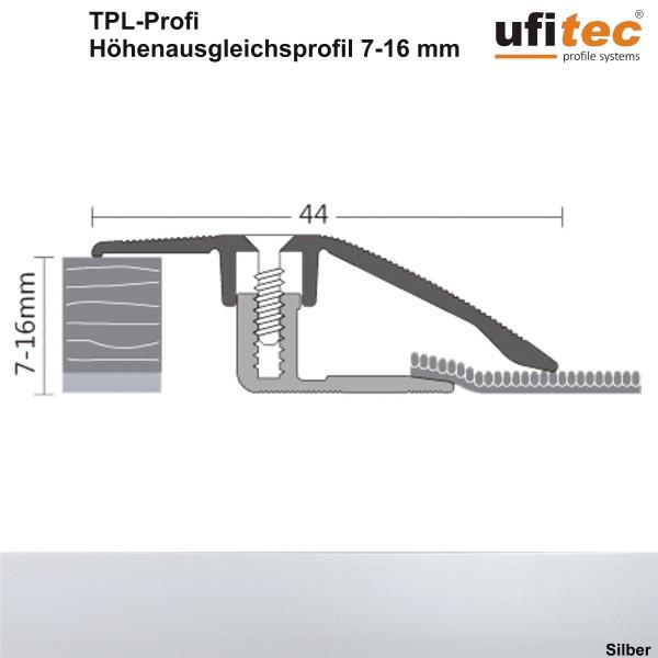 ufitec® Höhenausgleichsprofil / Niveauausgleichsprofil - TPL Profi - für Belagshöhen von 7-16 mm