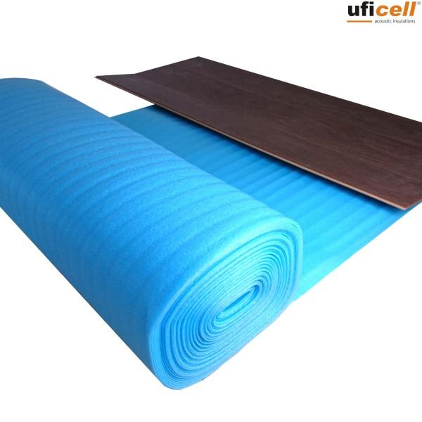 uficell® NORMAL PE Schaum Trittschalldämmung | Laminat- und Parkettunterlage, 2 mm stark