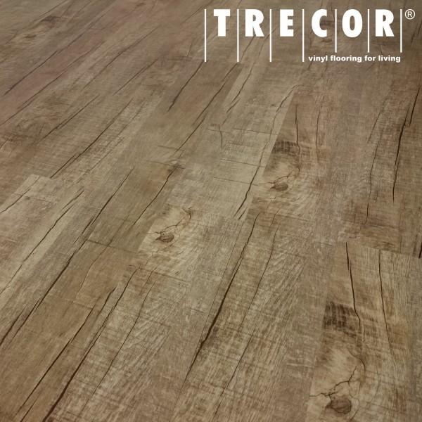 TRECOR® Vinylboden - Klebevinyl Eiche Old Rustic Landhausdiele (1 Stab) mit micro V-Fuge - 2 mm
