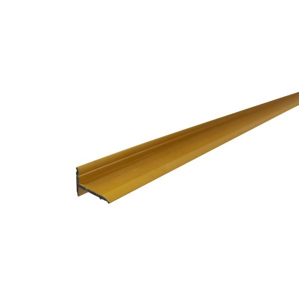 ufitec® Sockelprofil SK für den perfekten Abschluß an Balkon- und Terassentüren, Gold eloxiert
