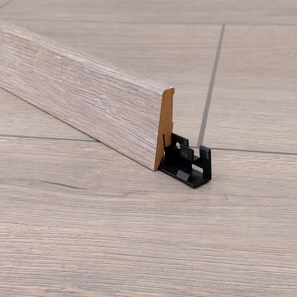 TRECOR® Laminatboden Sockelleiste - Timber Oak - Material: MDF gerade Form