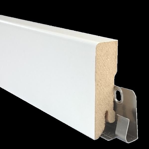 TRECOR® Sockelleiste, Fußleiste, Laminatsockelleiste 16 x 58 mm mit rechteckigem Profil, in Weiß