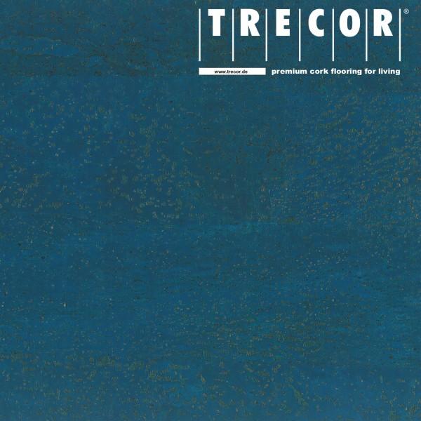 "TRECOR® Korkboden mit Klicksystem ""MERIDA"" - 10 mm Stark - Farbe: Signalblau"