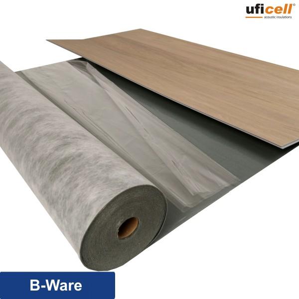 uficell® VINOSOUND FIX Vinyl Trittschalldämmung mit Haftbeschichtung - Dichte: 1000 kg/m³ - 400 kPa