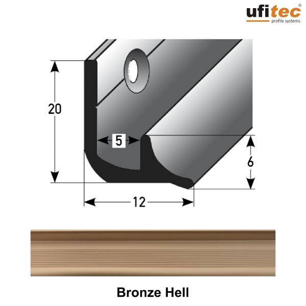 ufitec® Treppeninneneckenprofil für Vinylböden für Belagshöhen von 3 und 5 mm - Alu eloxiert