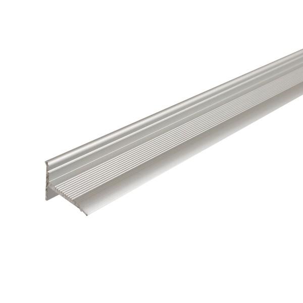 ufitec® Sockelprofil SK für den perfekten Abschluß an Balkon- und Terassentüren, Silber eloxiert