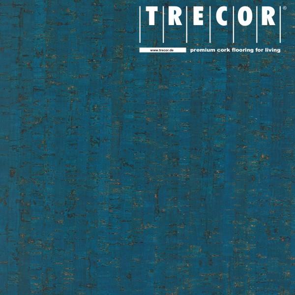 """TRECOR® Korkboden mit Klicksystem """"MAZARA"""" Korkfertigparkett - 10,5 mm Stark - Farbe: Signalblau"""