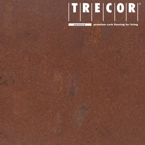 "Korkboden TRECOR® CLASSIC ""Klebekork ""FORTI"" Stärke: 4 mm, Oberfläche: ROH - Farbe: Rotbraun"
