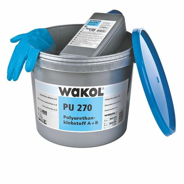 Wakol PU 270 Polyurethanklebstoff (für die Verlegung von Gummibelägen) - 6 kg + 1,05 kg Gebinde