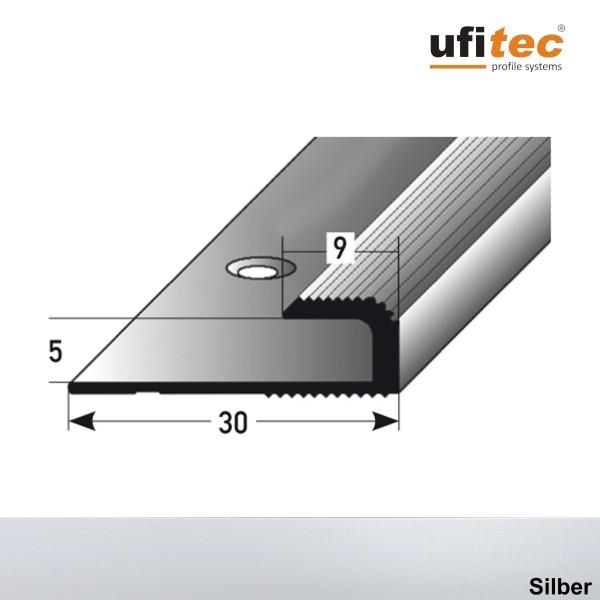 ufitec® Einschubprofile / Abschlussprofile - für Belagshöhen von 5 mm - Alu eloxiert
