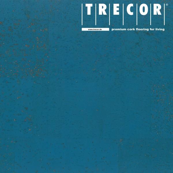 TRECOR® Korkboden mit Klicksystem MAFRA Korkfertigparkett - 10 mm Stark - Farbe: Himmelblau