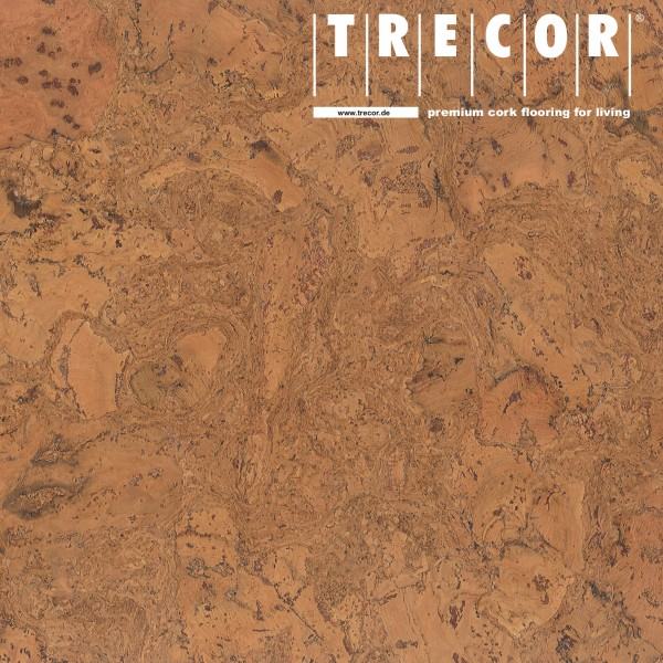 "Korkboden TRECOR® CLASSIC ""Klebekork ""FRAMENTO"" Stärke: 4 mm, Oberfläche: ROH - Farbe: Orange"