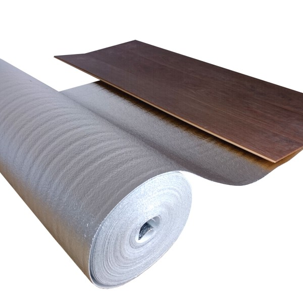 uficell® ALU Trittschalldämmung mit Alu-Kaschierung perfekt für Fußbodenheizung, 2 mm stark