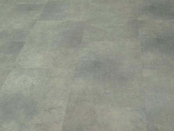 TRECOR® Klick Vinylboden RIGID 4.2 - Fliesendekor Stone Grey mit V-Fuge - 4,2 mm Stark