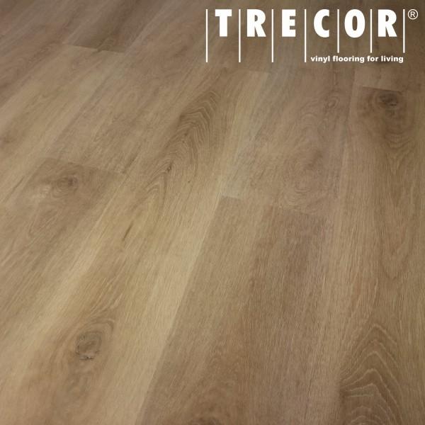TRECOR Klick Vinylboden LVT 5.0 massiv - Eiche Gold LHD - mit micro V-Fuge - 5 mm Stark
